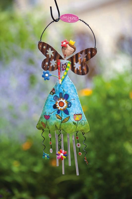 Wind Chime-could maybe us a terra cotta pot for the dress