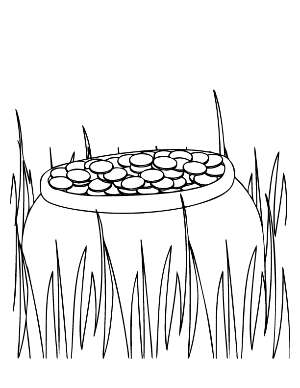 Pot of Gold Coloring Page | St Patrick\'s Day | Pinterest