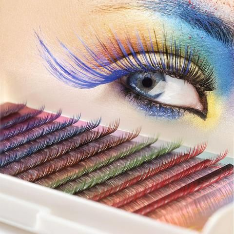 Beauty & Health 60pcs=1set Women Professional Black Crisscross Fake Eyelashes Makeup Individual Lashes Maquiagem Fake Eye Lashes Extension Tool