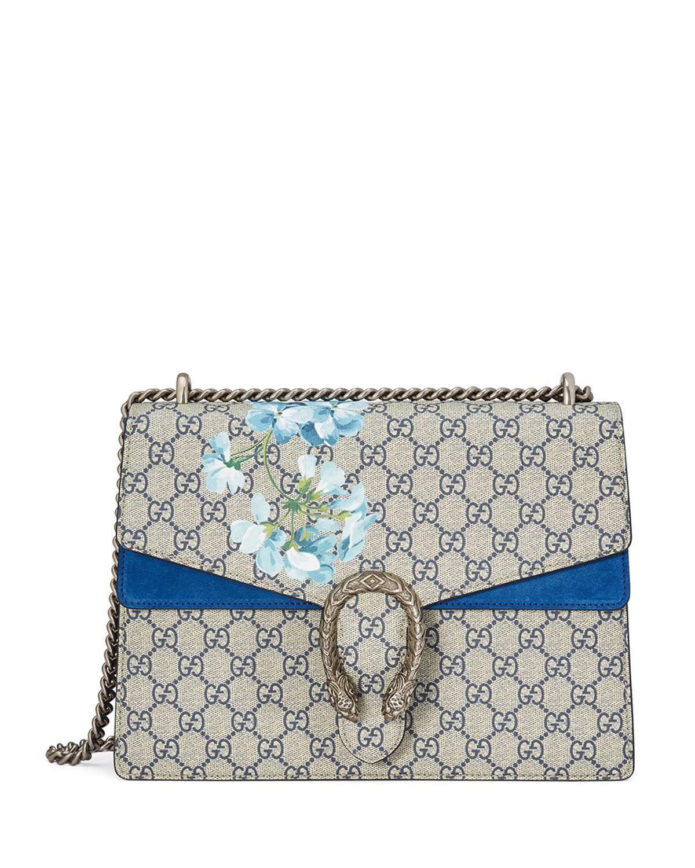 aefb2fd14 Dionysus GG Blooms Medium Shoulder Bag Blue/Multi | *Neiman Marcus ...