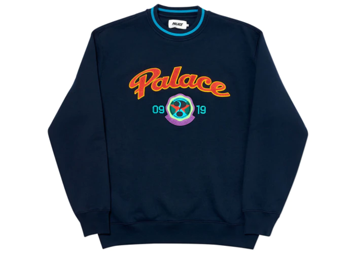 Palace Hi Sport Crew Navy FW19 in 2020 | Palace clothing