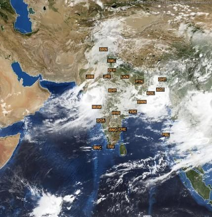 Latest METEOSAT Satellite Image Of India For June Http - World satellite weather map