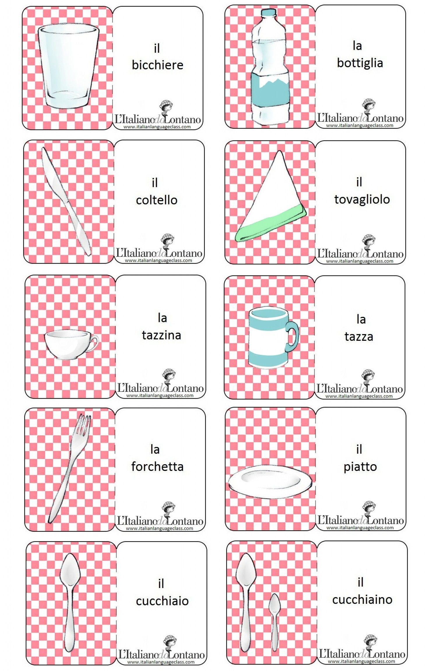 Italian Flashcards Printable