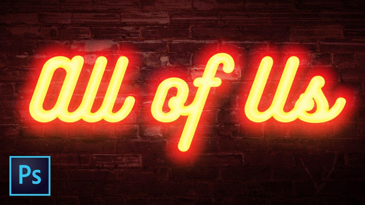 The Best Neon Text Effect | Photoshop Tutorial | #PhotoshopTutorials