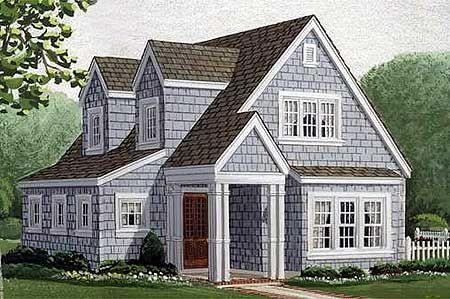 Plan 1958gt Wonderful Cottage With Detached Garage Cottage Style House Plans Craftsman House Plans House Plans