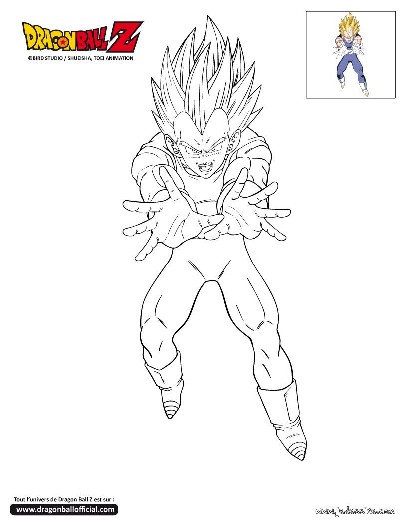 coloriage dragon ball z ve a majin