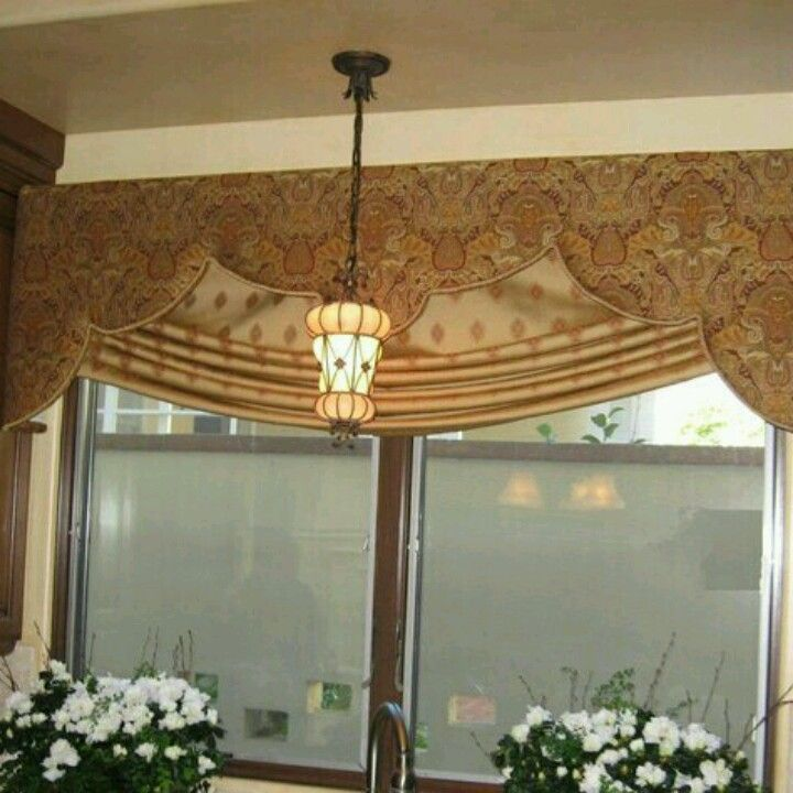 Dining Room Window Valances: Like The Shape Of This Cornice Board For Kitchen And