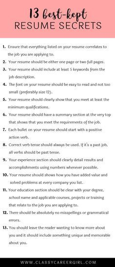The  BestKept Resume Secrets  Life Hacks Tossed And Job