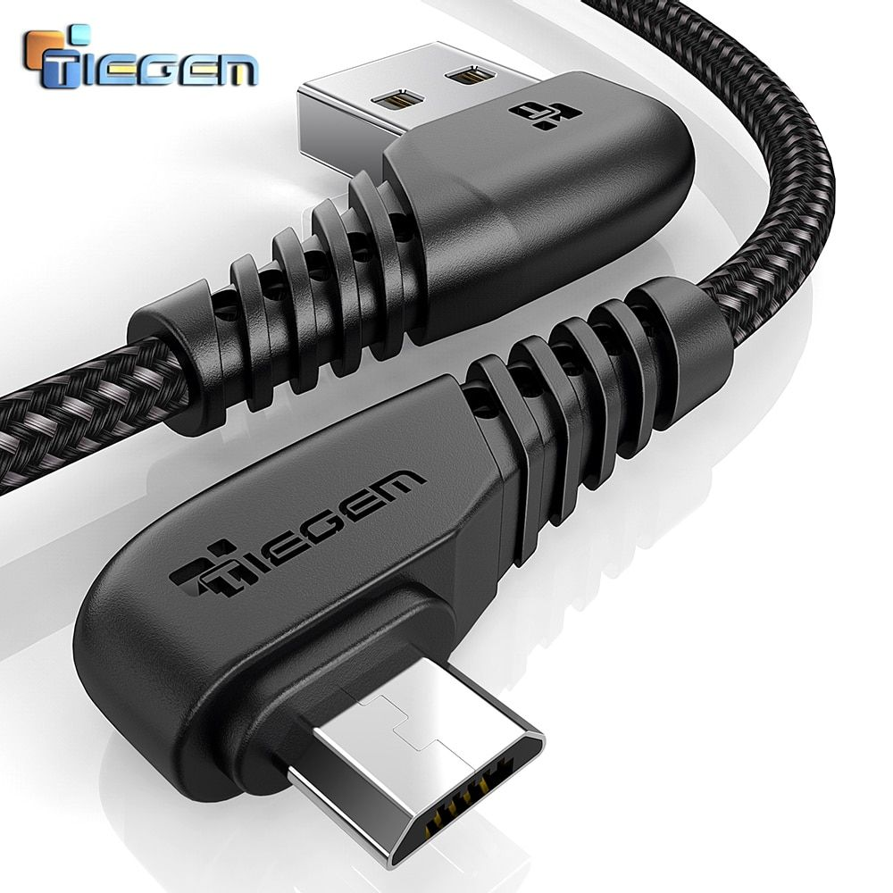 Universe Of Goods Buy Tiegem 90 Degree Micro Usb Cable 2a Fast Charger Data Cable Braided Usb Cable Mobile P Micro Usb Cable Phone Cables Sony Mobile Phones