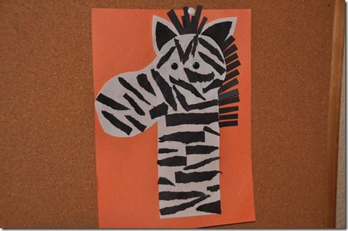 Zebra Craft Idea for Preschool - Preschool and Kindergarten