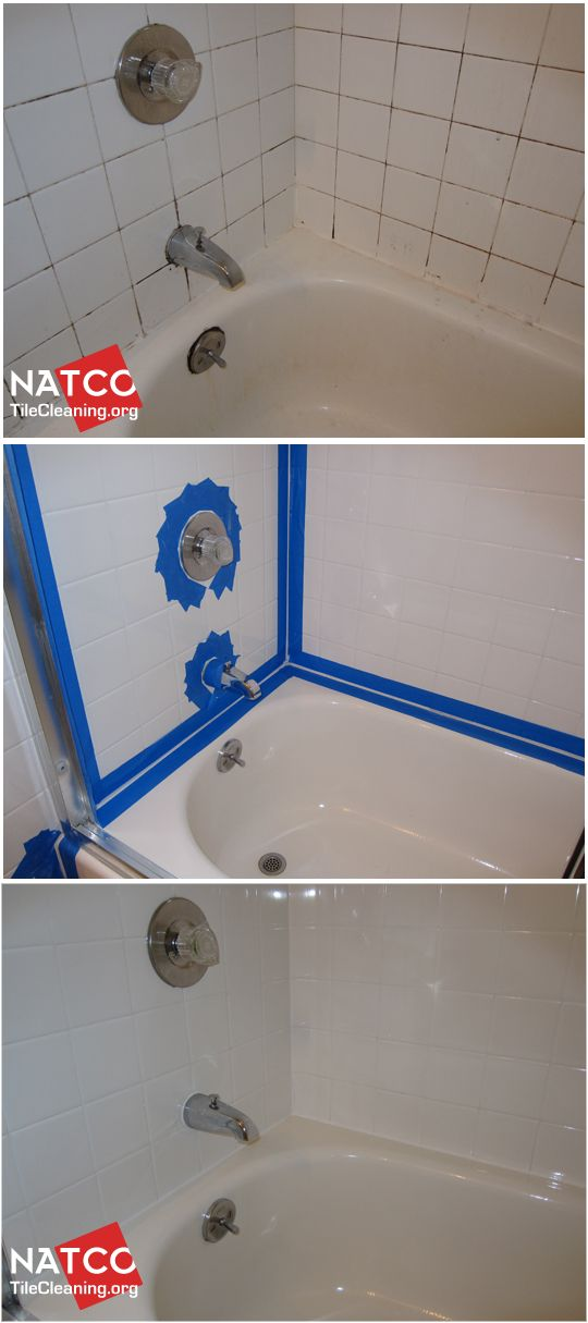 Cleaning and recaulking bathtub surround tiles with black - How to clean old bathroom floor tiles ...