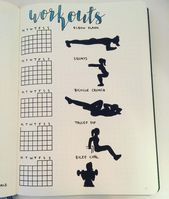 Bullet Journal Page Ideas for Tracking Health and Fitness Goals  If you're looking to plan and keep...