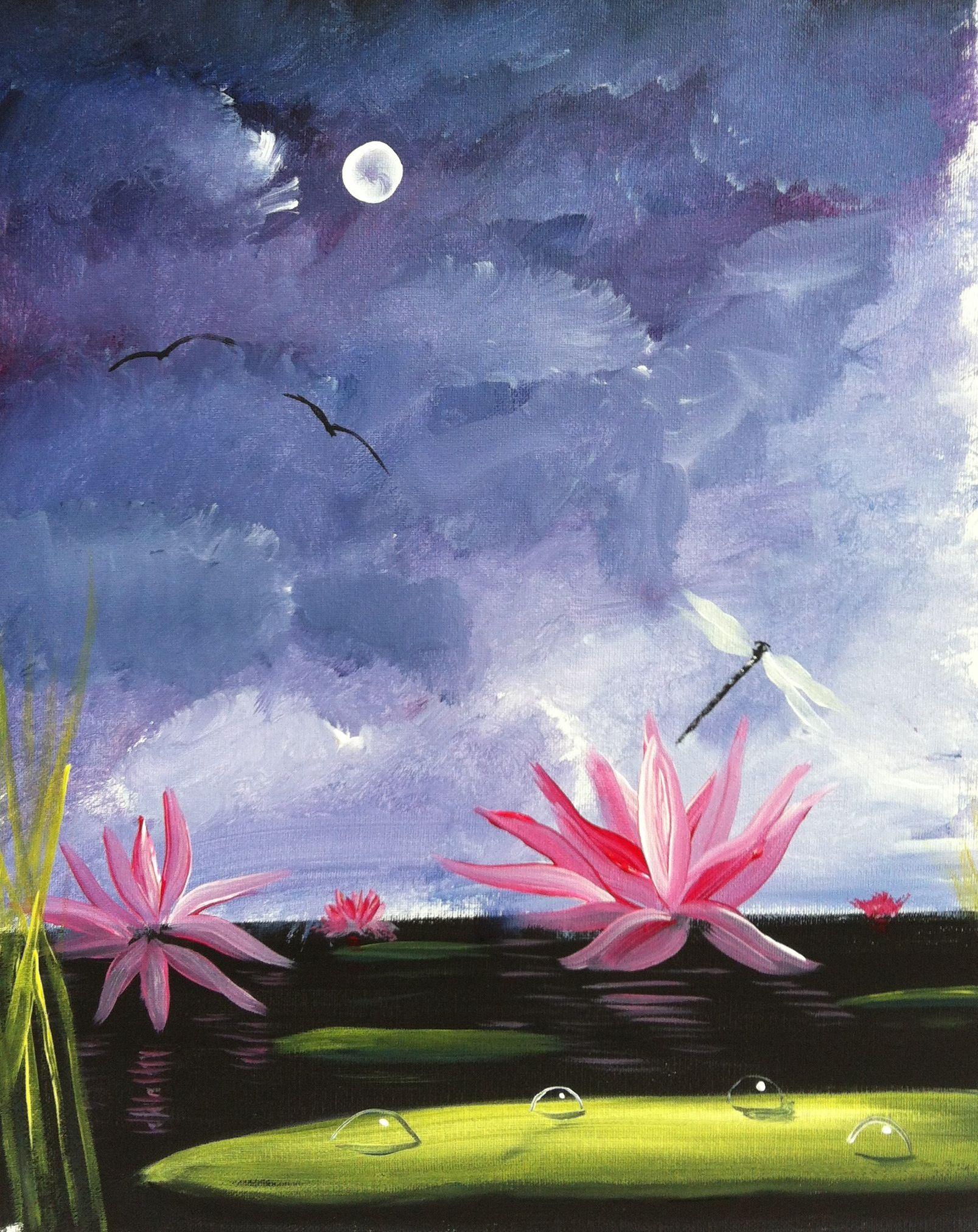 Lotus Flower Oil Paintings Pinterest Lotus Flower Painted