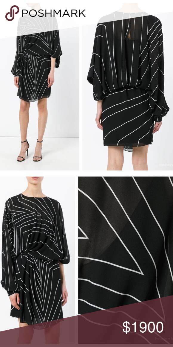 a5395bfff9f Saint Laurent Star Print Asymmetric Mini Dress Ushering a new era at Saint  Laurent, Anthony