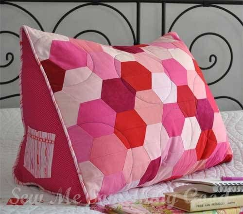 Triple Hex Reading Pillow Pattern | Reading pillow, Pillows and ...