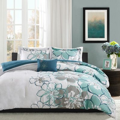 Zipcode Design Aleena Comforter Set Size Twin Twin Xl Color Blue Green Gray Comforter Sets Bed Comforter Sets Bedding Sets