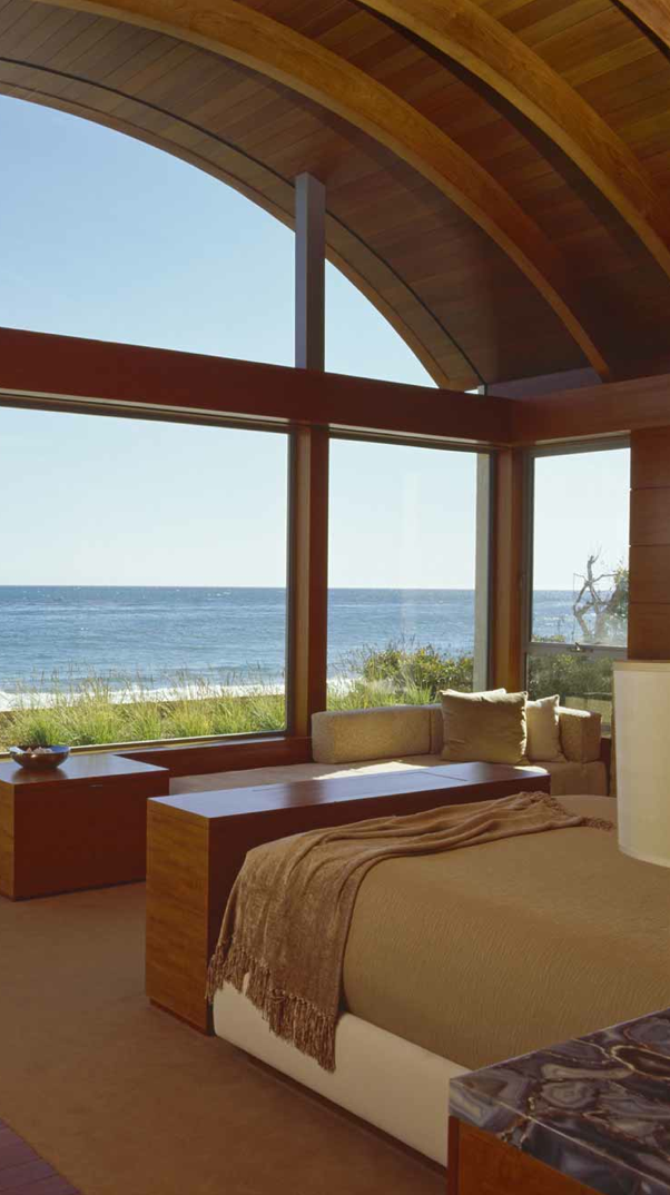 awesome beach style bedroom | Master Bedroom with an Ocean View~Well now! Awesome view ...