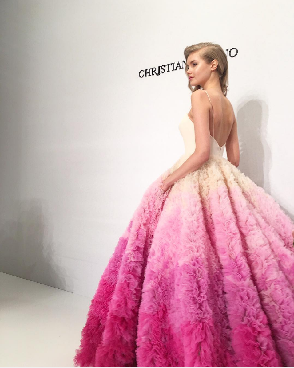 Fifty Shades of Pink {Wedding Inspiration} | Christian siriano ...