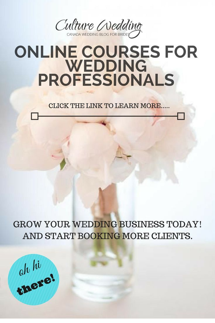 Grow your wedding business today with our specially created courses
