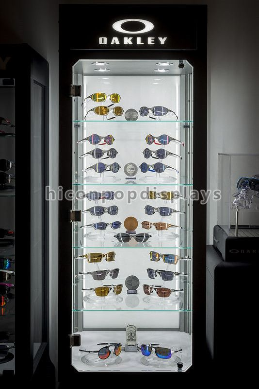 074c1ae933515 large sunglasses display case with led lighting for Oakley brand holder