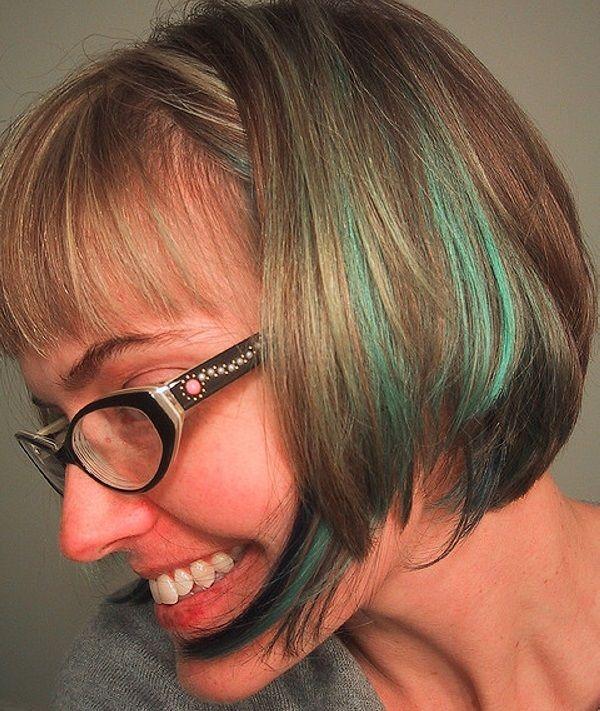 Pleasant Blue Hair Streaks Fabulous Hair Pinterest Beautiful Hair Hairstyles For Women Draintrainus
