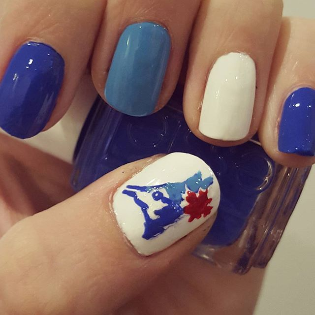 Toronto Blue Jays Nail Art Cometogether