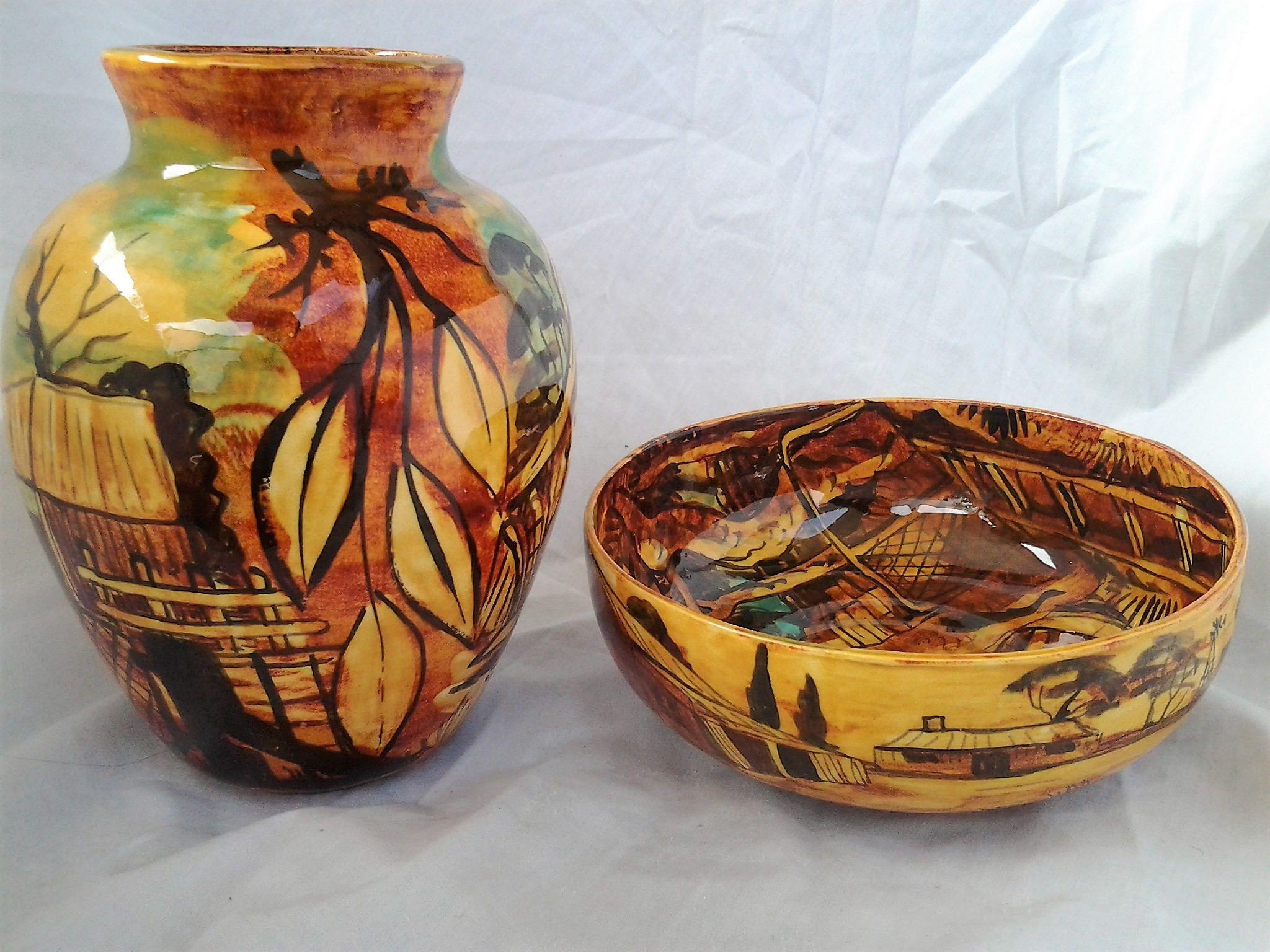 Pin by old vintage treasures on vintage vases for sale pinterest stunning handpainted barossa valley sa bowl and vase vintage reviewsmspy