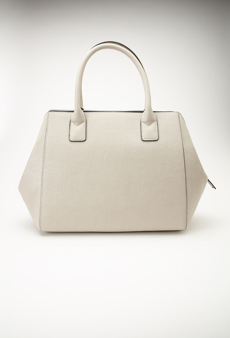 Faux Leather Satchel | FOREVER21 - 1000134679