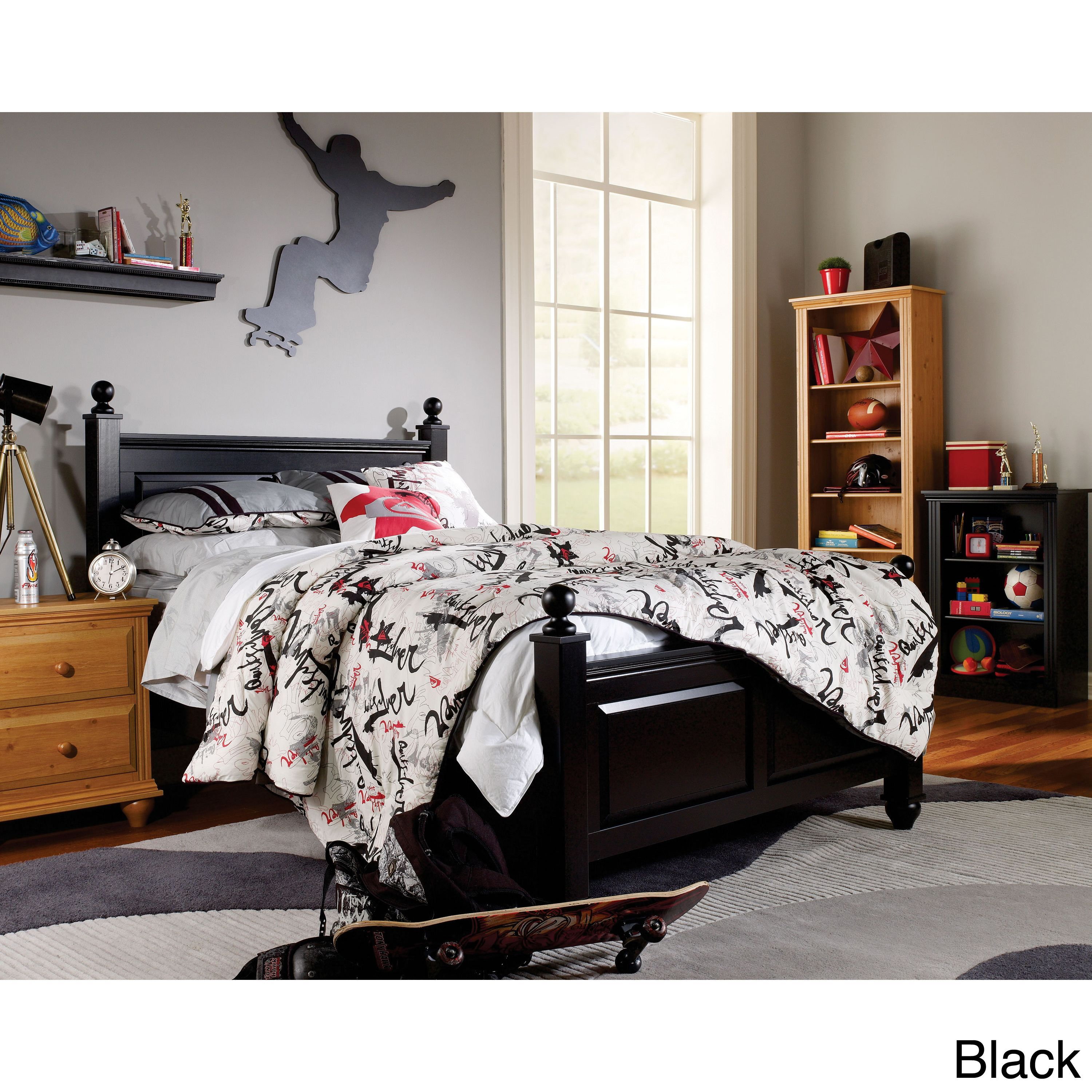 Lang Furniture Twin Size Four Poster Bed Frame (Twin BED Assembly ...