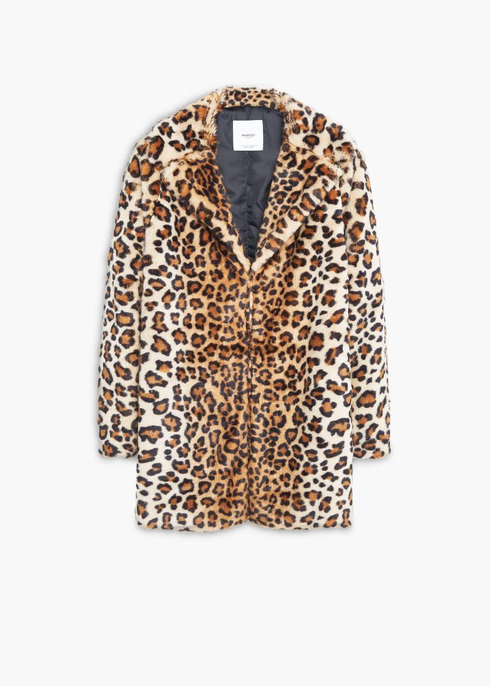 Mujer Pinterest Leopardo Pelo Coats Furry Abrigo TfqO4wYx