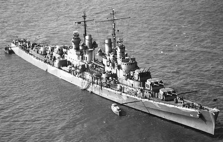 uss atlanta cl 51 another atlanta class light cruiser. Black Bedroom Furniture Sets. Home Design Ideas
