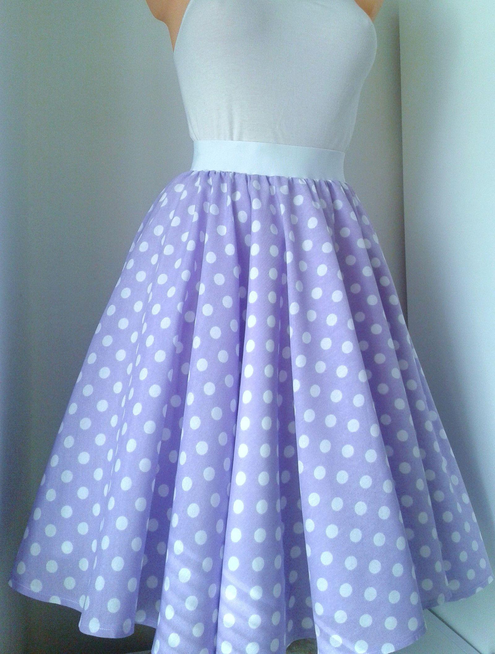 e74f493bf6e7 sukně kolo fialová Retro kolová sukně z kvalitní pevné bavlny. V pase na  gumu padne