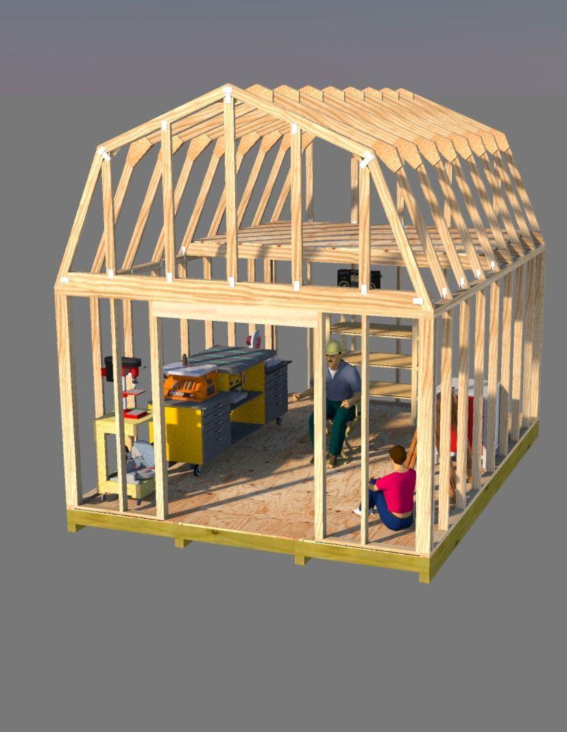 12x16 Barn Plans Barn Shed Plans Small Barn Plans Barn Style Shed Small Barn Plans Diy Storage Shed Plans