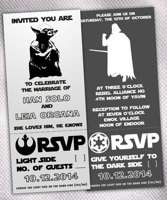 Lovely Star Wars Wedding Invitations U2013 Made By AprilSanson On Etsy