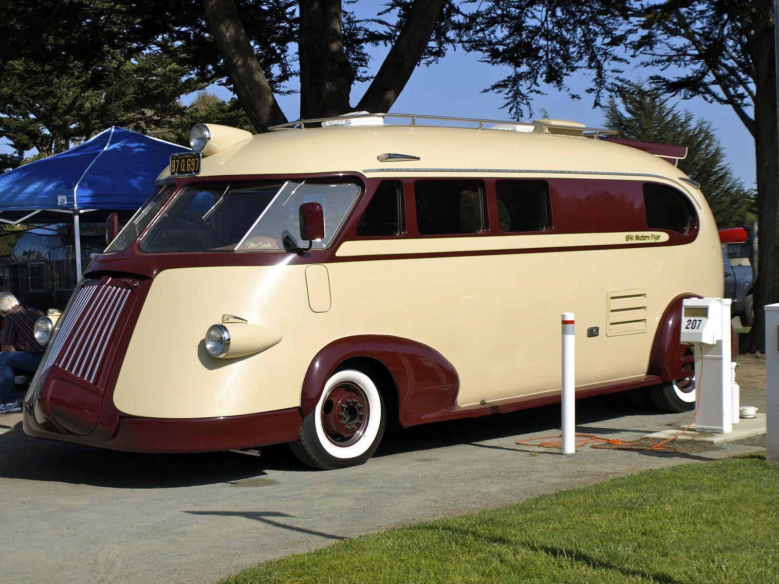 1941 western flyer bus vehicle design camper caravan