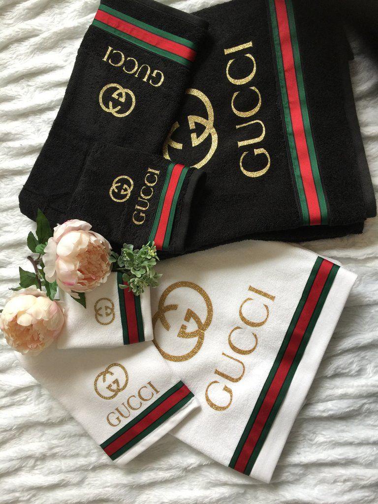 Gucci towels set of 3  Home decor  Gucci Gucci bedding