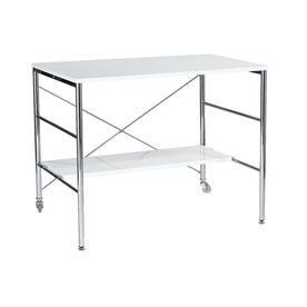 Eurostyle Ida White/Chrome Computer Desk 27324