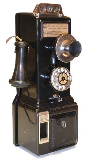 gray 1920s three slot pay station antique telephone