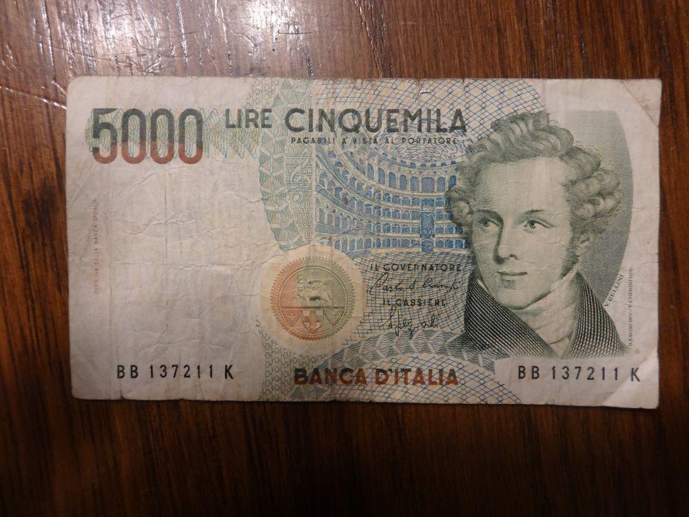 Banca D'Italia Lire Cinquemila 5000 1985