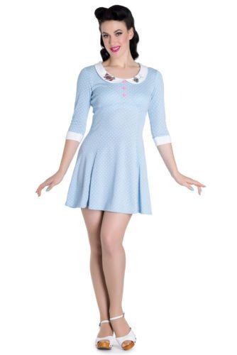 Polka Jersey Bunny Retro Beebee Tea Vintage Hell Dot 60s Style Dress 8gHxwqEZ