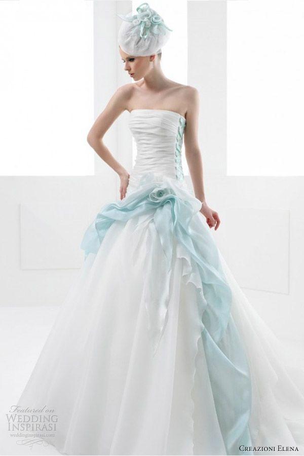 Blue Accents · Creazioni Elena 2013 Color Wedding Dresses ...