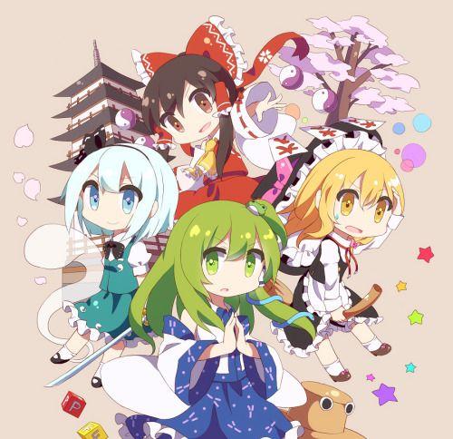 frommetrunui anime chibi touhou anime chibi