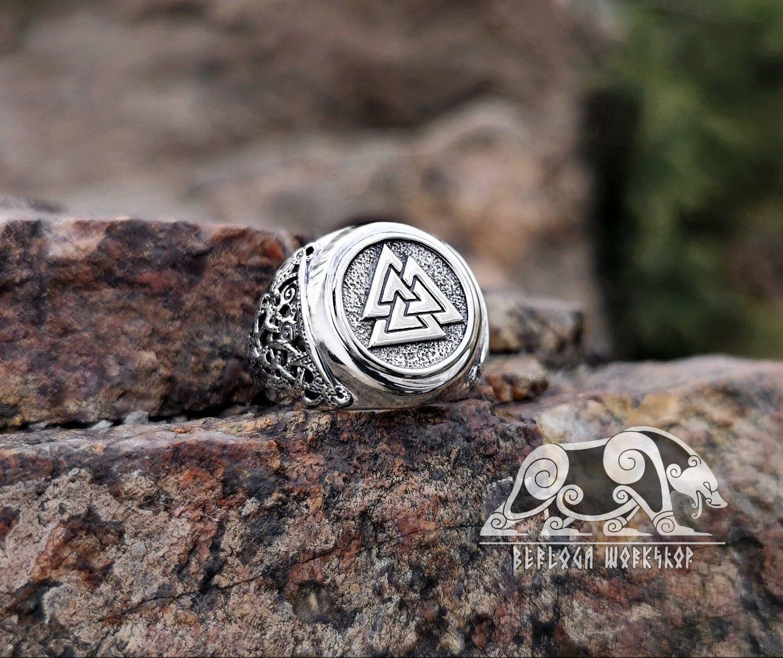 Valknut Ring Viking Ring Mammen Style Sterling Silver Ring Scandinavian Norse Viking Jewelry Viking Ring Viking Jewelry Rings For Men