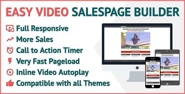 Easy Video Salespage Builder - Price $10 | Codecanyon collections ...