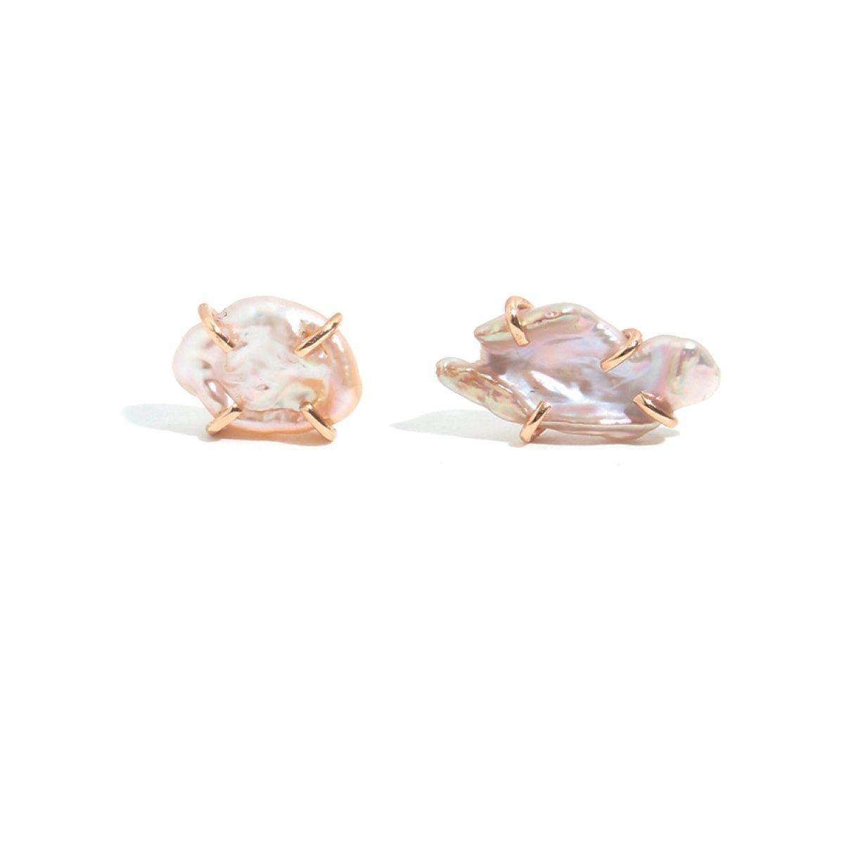 Kasumi Keshi Pearl Stud Earrings Melissa Joy Manning