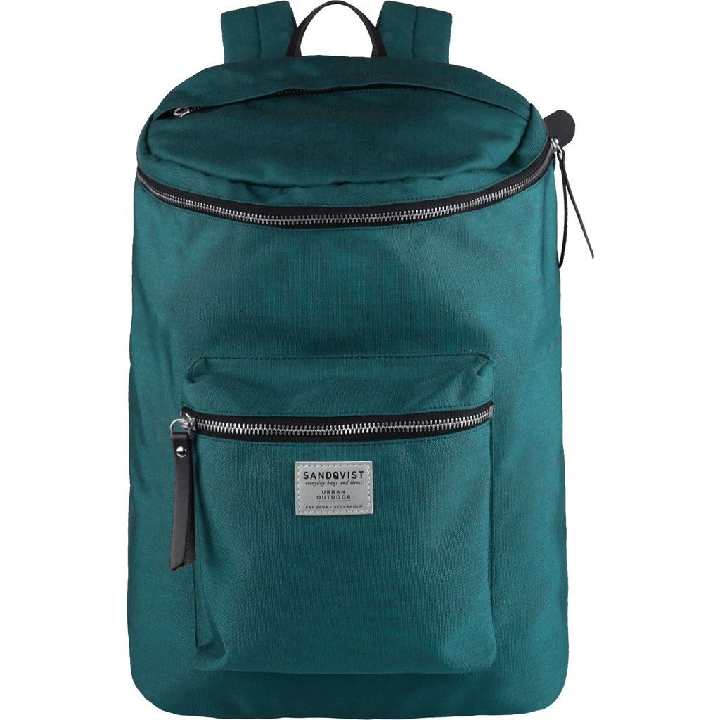 Sandqvist Tobias Backpack Petrol Blue Grey Backpacks