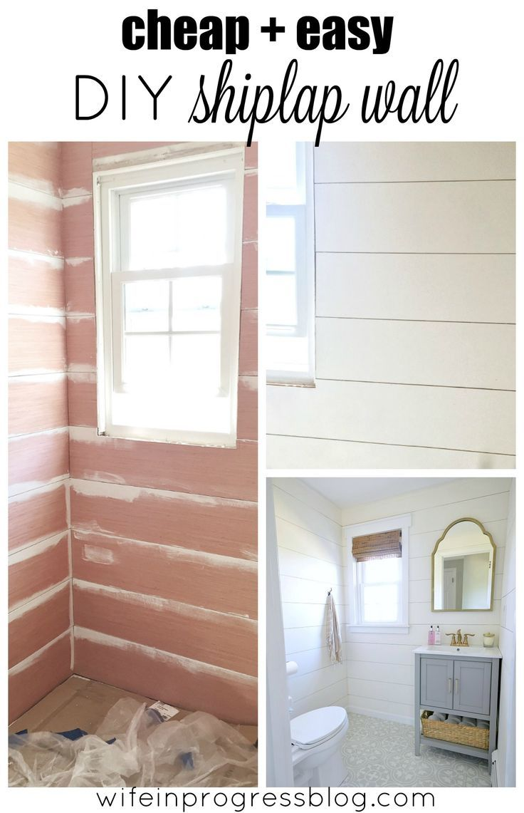 Beautiful Shiplap Walls From Cheap Plywood Home Decor