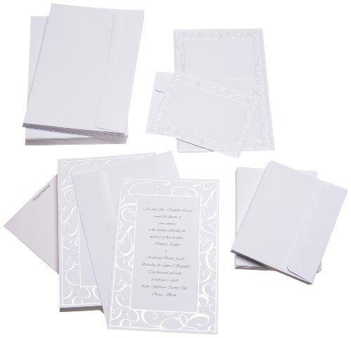 Wilton Elegant Swirls Wedding Invitation Kit Wilton Http Www Amazon Com Dp B002pnnnke Ref Wedding Invitation Kits Invitation Kits Floral Wedding Invitations