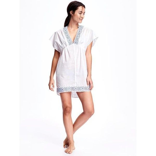 44f679bc11 Old Navy Embroidered Kimono Sleeve Swim Cover Up For Women ( 30) ❤ liked on  Polyvore featuring white and old navy