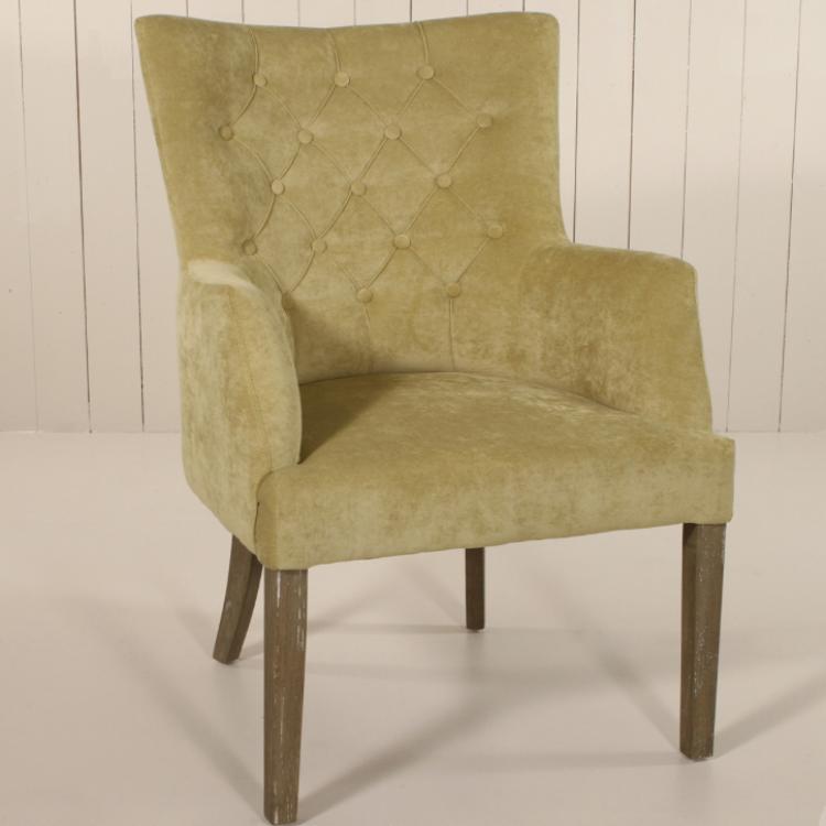 Elegant Armchair In Burgundy Or Lime U2013 Allissias Attic U0026 Vintage French  Style Www.allissiasattic